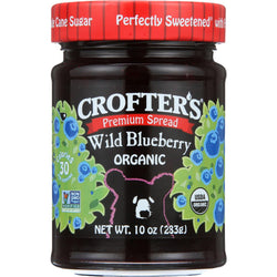 Crofters Fruit Spread - Organic - Premium - Wild Blueberry - 10 Oz - Case Of 6