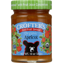 Crofters Fruit Spread - Organic - Just Fruit - Apricot - 10 Oz - Case Of 6