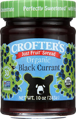 Crofters Fruit Spread - Organic - Just Fruit - Black Currant - 10 Oz - Case Of 6