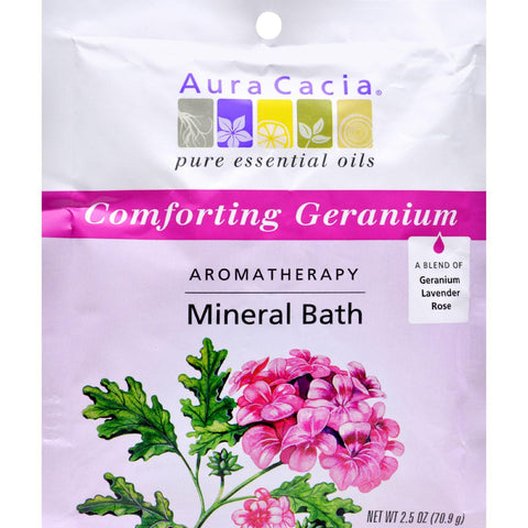 Aura Cacia Aromatherapy Mineral Bath Heart Song - 2.5 Oz - Case Of 6
