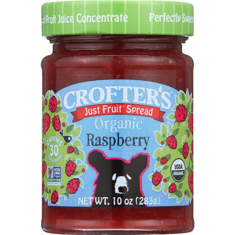 Crofters Fruit Spread - Organic - Just Fruit - Raspberry - 10 Oz - Case Of 6