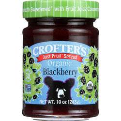 Crofters Fruit Spread - Organic - Just Fruit - Blackberry - 10 Oz - Case Of 6