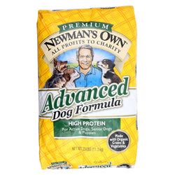 Newman's Own Organics Dog Dry Formula - Advanced - Case Of 1 - 25