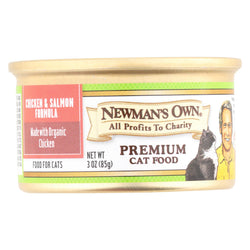 Newman's Own Organics Cat Food - Chicken And Salmon - Case Of 24 - 3 Oz.