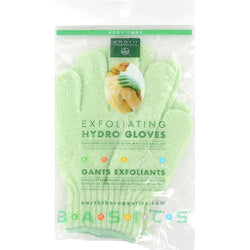 Earth Therapeutics Exfoliating Hydro Gloves White - 1 Pair