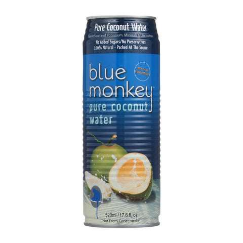 Blue Monkey Coconut Water - Natural - Case Of 24 - 17.6 Oz.