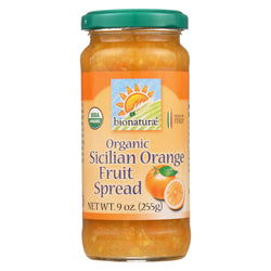 Bionaturae Fruit Spread - Sicilian Orange - Case Of 12 - 9 Oz.
