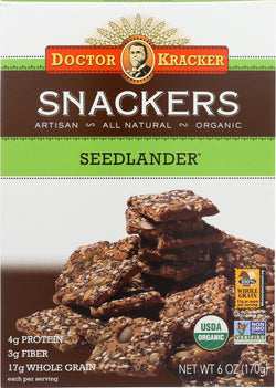 Doctor Kracker Seed Lander Snackers - Case Of 6 - 6 Oz.