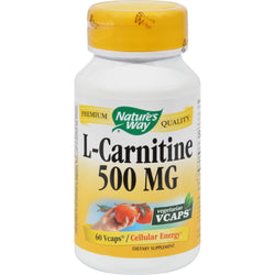Nature's Way L-carnitine - 500 Mg - 60 Vegetarian Capsules