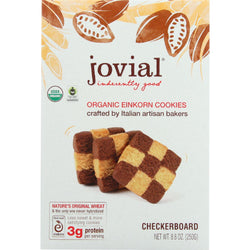 Jovial Cookie - Organic - Einkron - Checkerboard - 8.8 Oz - Case Of 12