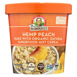 Dr. Mcdougall's Organic Hemp Peach Superfood Hot Cereal Cup - Case Of 6 - 3 Oz.