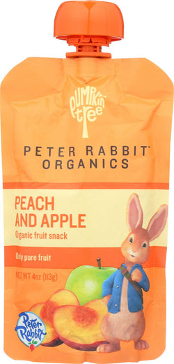 Peter Rabbit Organics Fruit Snacks - Peach And Apple - Case Of 10 - 4 Oz.
