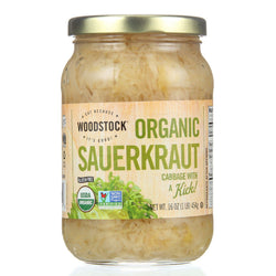Woodstock Sauerkraut - Organic - Cabbage - 16 Oz - Case Of 12