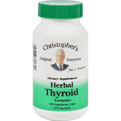Dr. Christopher's Herbal Thyroid - 475 Mg - 100 Vegetarian Capsules