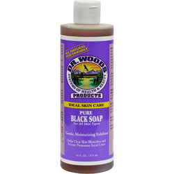 Dr. Woods Pure Black Soap - 16 Fl Oz