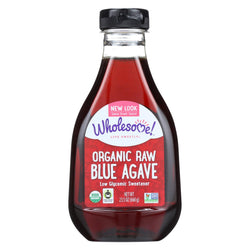 Wholesome Sweeteners Organic Raw Blue Agave - Case Of 6 - 23.5 Oz.