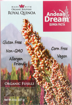 Andean Dream Gluten Free Organic Fusilli Quinoa Pasta - Case Of 12 - 8 Oz.