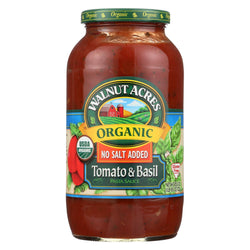 Walnut Acres Organic Sauces - Tomato And Basil - Case Of 1 - 25.5 Fl Oz.