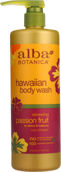 Alba Botanica Hawaiian Body Wash - Renewing Passion Fruit - 24 Oz