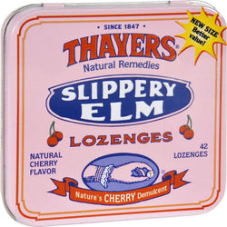 Thayers Slippery Elm Lozenges Cherry - 42 Lozenges - Case Of 10