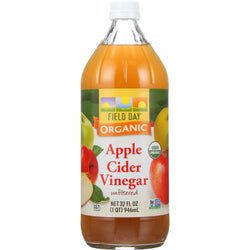 Field Day Vinegar - Organic - Apple Cider - 32 Oz - Case Of 12