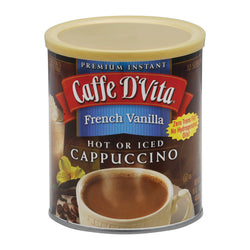 Caffe D'vita Cappuccino - French Vanilla - Case Of 6 - 16 Oz.