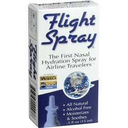 Flight Spray Nasal Hydration Spray - Airline Travelers - .5 Oz