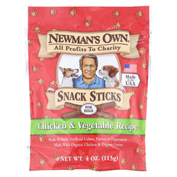 Newman's Own Organics Training Treats - Chicken And Vegetable - Case Of 12 - 4 Oz.