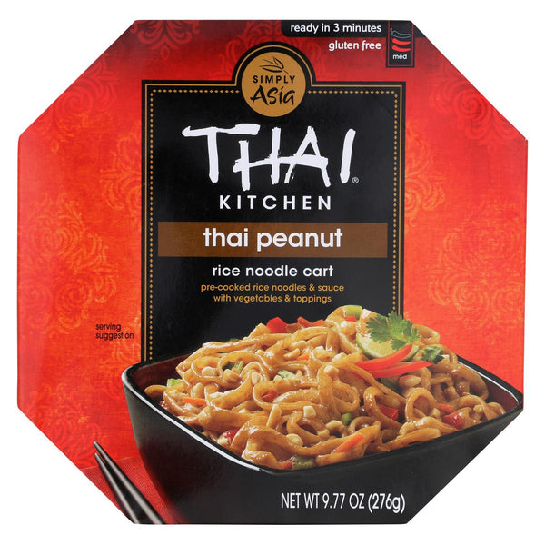 Thai Kitchen Noodle Kit - Thai Peanut - Case Of 6 - 9.77 Oz.