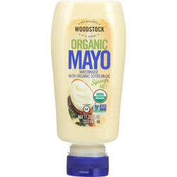 Woodstock Mayonnaise - Organic - With Organic Soybean Oil - Squeezable - 11.25 Oz - Case Of 12