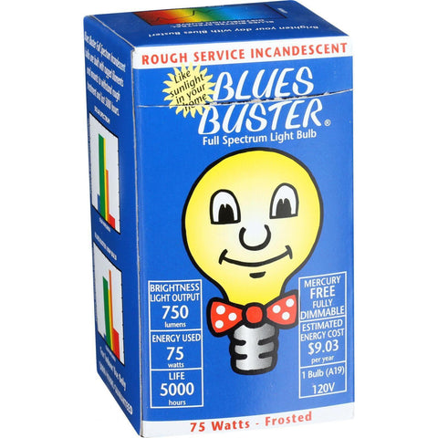 Blues Buster Light Bulb - Full Spectrum - Frosted - 75 Watt Bulb - 1 Count