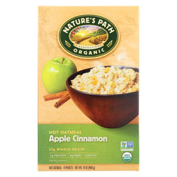 Nature's Path Hot Oatmeal - Apple Cinnamon - Case Of 6 - 14 Oz.