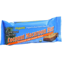 Coconut Secret Organic Chocolate Covered Coconut Bar - Coconut Macaroon - Case Of 12 - 1.75 Oz Bars