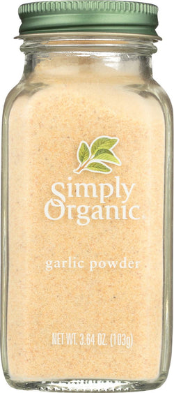 Simply Organic Garlic Powder - Case Of 6 - 3.64 Oz.