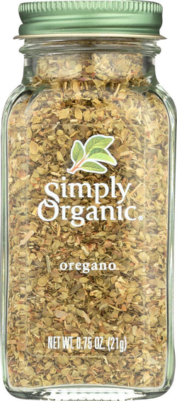 Simply Organic Oregano - Case Of 6 - 0.75 Oz.