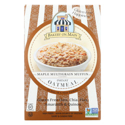 Bakery On Main Instant Oatmeal - Maple Flavor - Case Of 6 - 10.5 Oz.