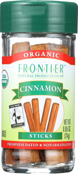 Frontier Herb Cinnamon Sticks - Organic - Fair Trade Certified - .85 Oz