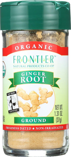 Frontier Herb Ginger Root Powder - Organic - Fair Trade Certified - Ground - 1.31 Oz