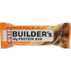 Clif Bar Builder Bar - Crunchy Peanut Butter - Case Of 12 - 2.4 Oz