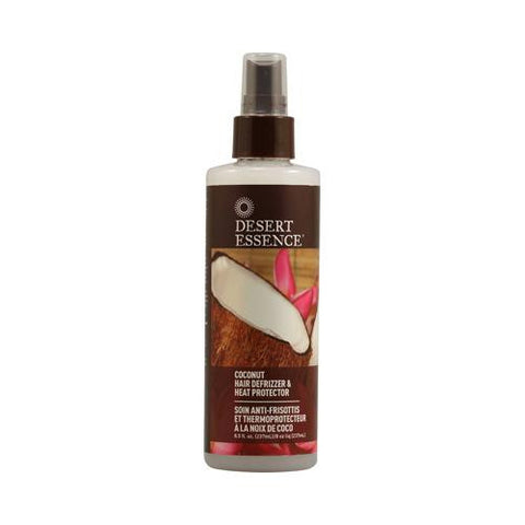 Desert Essence Hair Defrizzer And Heat Protector Coconut - 8.5 Fl Oz