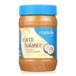 Earth Balance Crunchy Coconut And Peanut Spread - Case Of 12 - 16 Oz.