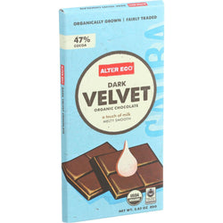 Alter Eco Americas Organic Chocolate Bar - Dark Velvet - 2.82 Oz Bars - Case Of 12