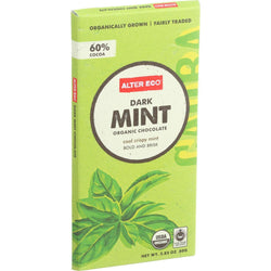 Alter Eco Americas Organic Chocolate Bar - Dark Mint - 2.82 Oz Bars - Case Of 12