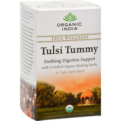 Organic India Tulsi True Wellness Tea Tummy - 18 Tea Bags - Case Of 6