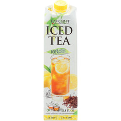 Favorit Tea - Iced - Lemon - With 2 Percent Lemon Juice - 33.8 Oz - Case Of 6