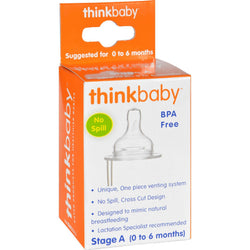 Thinkbaby Stage A Nipple With Vent (0-6 Months) - 2 Pack