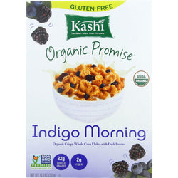 Kashi Cereal - Organic - Corn - Indigo Morning - 10.3 Oz - Case Of 10