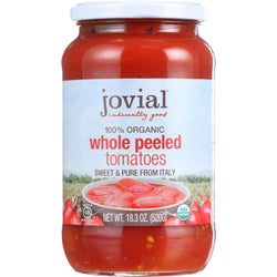 Jovial Tomatoes - Organic - Whole Peeled - 18.3 Oz - Case Of 6
