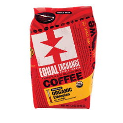 Equal Exchange Organic Whole Bean Coffee - Ethiopian - Case Of 6 - 12 Oz.