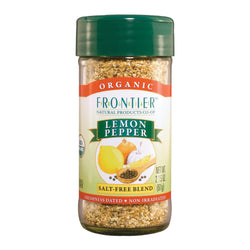 Frontier Herb Lemon Pepper - Organic Salt Free - Case Of 6 - 2.5 Oz.
